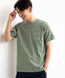 green label relaxing/【WEB限定】別注[ラッセルアスレチック]SC★★RUSSELL GLR PIG ポケット Tシャツ/502026987