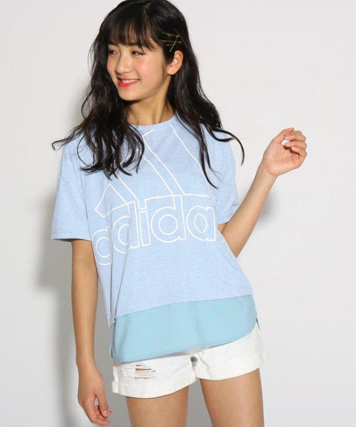 adidas 【UVカット】オーバーサイズ ビックロゴTシャツ