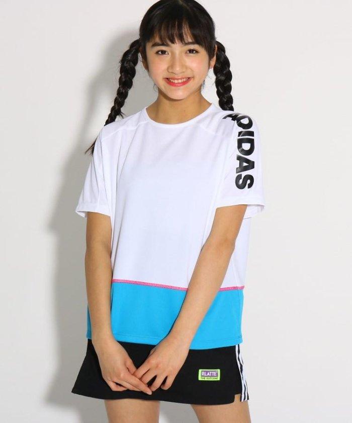 adidas カラーブロックTシャツ