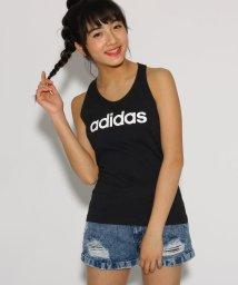 PINK-latte/【adidas/アディダス】 ロゴスリムタンクトップ/502027868