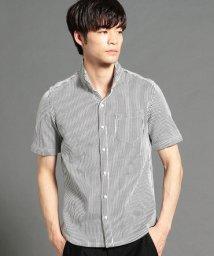 HIDEAWAYS NICOLE/ストライプ柄半袖カットソーシャツ/501944034