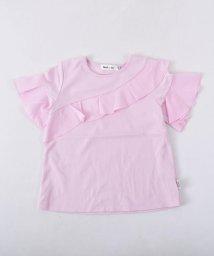 Noeil aime BeBe/【カタログ掲載】スムースアシンメトリーフリルTシャツ/501983052