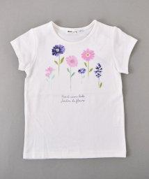 Noeil aime BeBe/【カタログ掲載】天竺水彩フラワーTシャツ/501983053