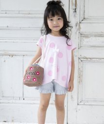 Noeil aime BeBe/【カタログ掲載】スムースドットAラインラパンプリントTシャツ/501983054