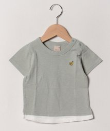 petit main/ワンポイントバナナ裾ワッフルTシャツ/502018456