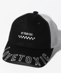 Lovetoxic/ツバロゴボックス刺しゅうメッシュキャップ/502018495