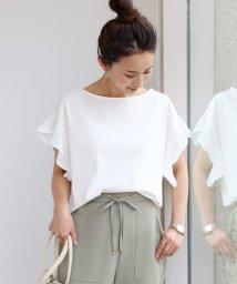 and Me.../シルケット加工 フリル袖 Tシャツ ブラウス カットソー トップス/502029526