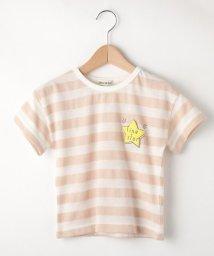SHOO・LA・RUE(Kids) /【80-130cm】ワッフルボーダー星プリントプルオーバー/502029594