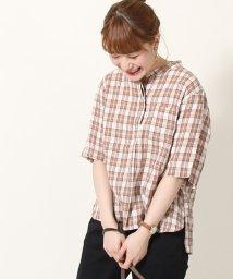 coen/【『リンネル』7月号掲載】フレンチリネンバンドカラーシャツ/502030164