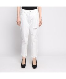 GUESS/ゲス GUESS DAMAGED TOMBOY WHITE DENIM PANT (WHITE)/502030738
