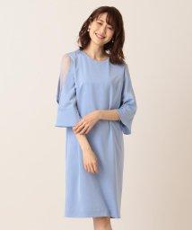 KUMIKYOKU/【PRIER】レース切替フレア袖コクーン ドレス/502031088