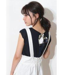 Apuweiser-riche/スカーフ付半袖Vニット/10016046N