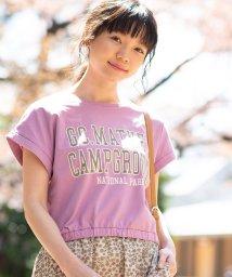 WEGO/WEGO/カレッジロゴUSAコットンTシャツ/501878520