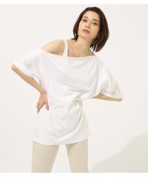 AZUL by moussy/ONE SHOULDER LOOSE CUT TOPS/502031455