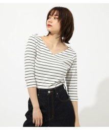 AZUL by moussy/RIB 2WAY TOPS/502031457