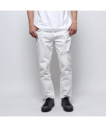 GUESS/ゲス GUESS REGULAR TAPER WHITE DENIM PANT (WHITE)/502033821