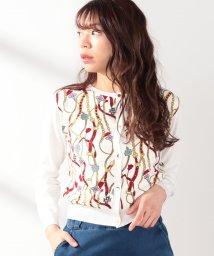 Noela/スカーフ柄カーデ /501926765