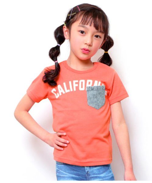 7baf23041466b ANAP KIDS(アナップキッズ) CALIFORNIAロゴデニム PK