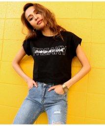 ANAP/フロントロゴクロップドTシャツ/501992592