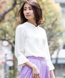 ketty/【TVドラマ着用】【洗濯可能】風通ストライプボウタイブラウス/501992651