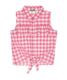 BENETTON (UNITED COLORS OF BENETTON GIRLS)/フリル裾結びノースリーブシャツ・ブラウス/502023355