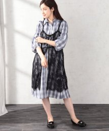 axes femme/レースジレ付シャツワンピース/502026685