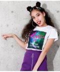 ANAP GiRL/宇宙柄BOXプリントTシャツ/502034177