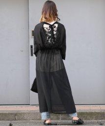 ANDJ/バックリボンデザインシフォンワンピース/502034517