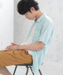 coen/綿麻ヘアラインストライプシャツ/502034597
