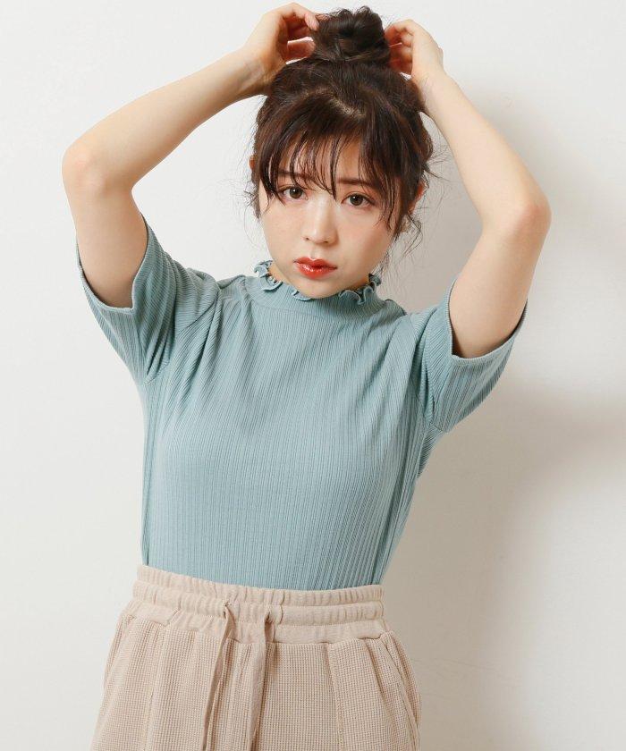 5分袖衿メロウプチハイプルオーバー
