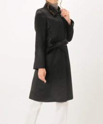 sankyoshokai/カシミヤ 100% ステンカラー ロングコート 着丈100cm レディースブラック 9号/11号/502035254