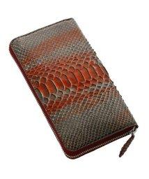 sankyoshokai/アートのように仕上げた スペインレザー ダイヤモンド パイソン ラウンドファスナー 長財布全20色/502035313