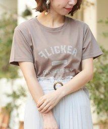 le.coeur blanc/マルチエフェクト ヴィンテージ風プリントTシャツ/501600781