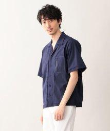 MACKINTOSH PHILOSOPHY/【britec】 BR712 ハイストレッチタフタ オープンカラーシャツ/501934129