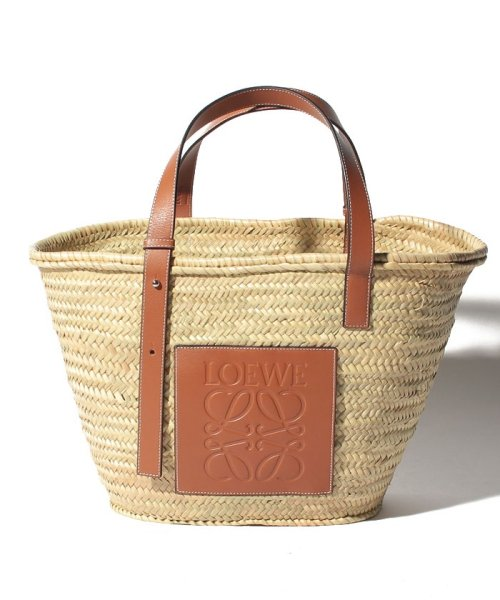 LOEWE(ロエベ)/【LOEWE】かごバッグ/BASKET LARGE【NATURAL/TAN】/32702S8100432435