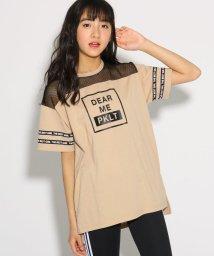 PINK-latte/メッシュ切替 Tシャツ/502036977