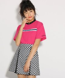 PINK-latte/★ニコラ掲載★襟メローZIP胸テープ Tシャツ/502036978