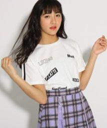 PINK-latte/【コットン100%】【抗菌防臭】ロゴ柄 Tシャツ/502036985