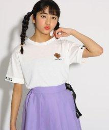 PINK-latte/犬刺繍 Tシャツ/502036987