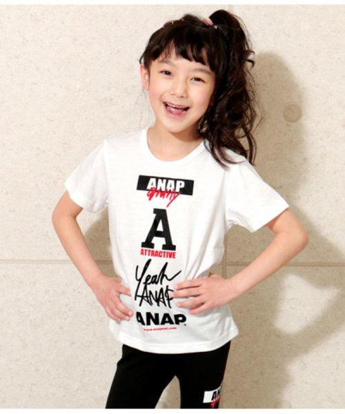 5db851087a14c ANAP KIDS(アナップキッズ) ロゴマークTシャツ WH