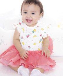 e-baby/天竺+ドビーフルーツプリントカバーオール/502037167