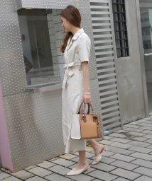 UNGRID bag/スカーフ付カラーコンビアオリスクエアバッグ/502037850