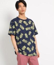 THE SHOP TK/【WEB限定/PINEAPPLE JUICE別注/USAコットン】総柄Tシャツ/502038420