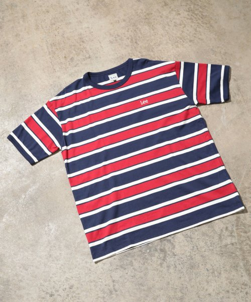 ViS(ビス)/【一部店舗限定】【Lee】ボーダークルーネックTシャツ/BVM79070