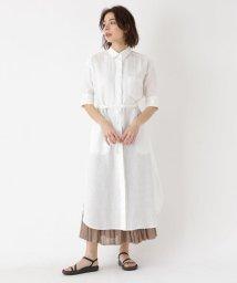 DRESSTERIOR/【洗える】リネン製品染めシャツワンピース/502038944