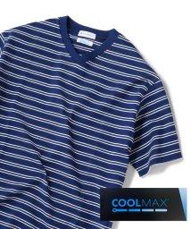 SHIPS JET BLUE/SHIPS JET BLUE: COOLMAX ボーダーVネックTシャツ/502039327