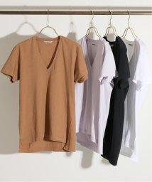 IENA/AURALEE SEAMLESS VネックTシャツ◆/502039561
