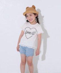 SLAP SLIP/天竺ハートプリントフリルTシャツ/502039683