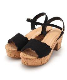 Couture Brooch/スカラップベルトコルクソールサンダル/502040218