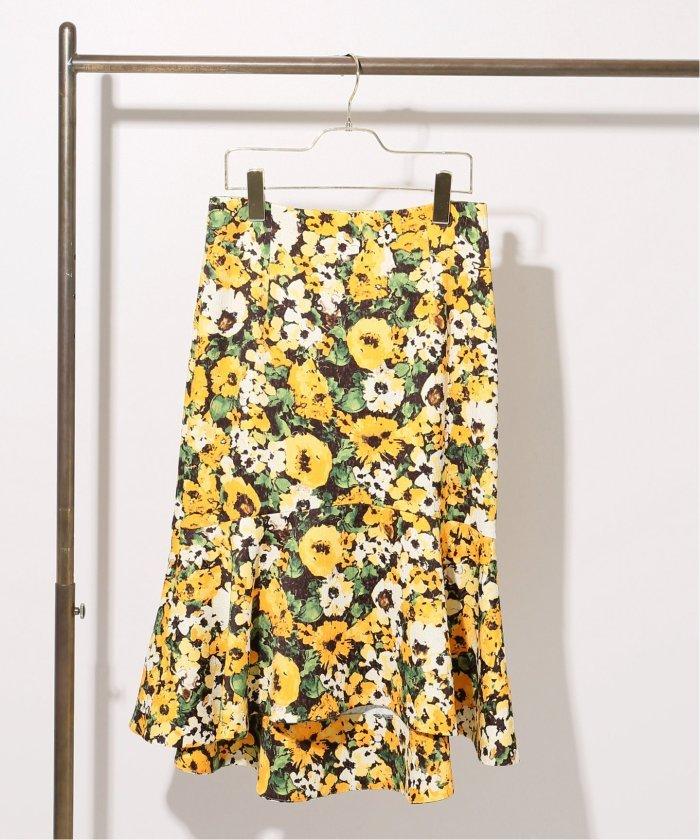 Naoko Tsujiコラボ フラワーラッフルスカート